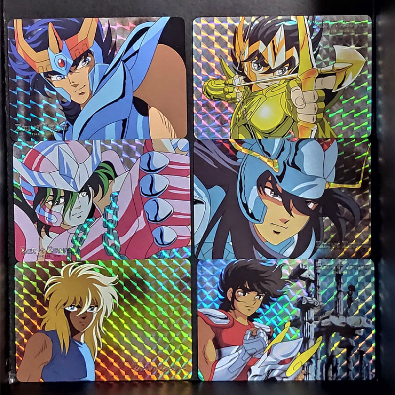 6pcs/set Saint Seiya Repaint Homemade Toys Hyoga Hobbies Hobby Collectibles Game Collection Anime Cards Free Shipping