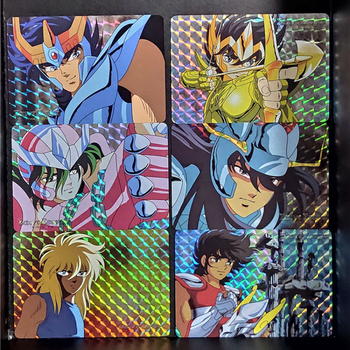 цена на 6pcs/set Saint Seiya Repaint Homemade Toys Hyoga Hobbies Hobby Collectibles Game Collection Anime Cards Free Shipping