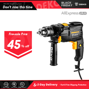 DEKO New DKIDZ Series 220V Impact Drill 2 Functions Electric Rotary Hammer Drill Screwdriver Power Tools Electric Tools