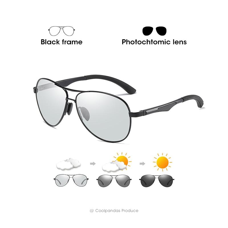 2020 Aviation Driving Photochromic Sunglasses Men Polarized Glasses Women Day Night Vision Driver Eyewear UV400 zonnebril heren 10