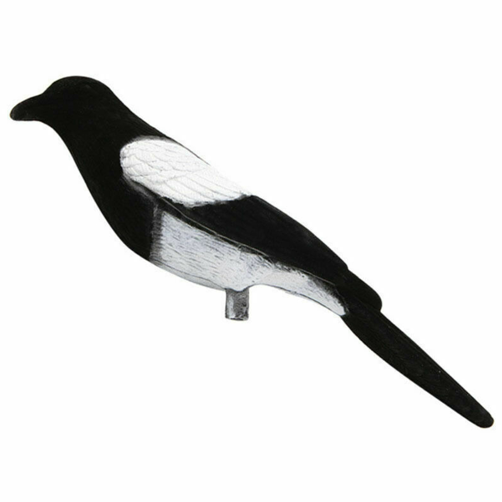 Animal Lifelike Outdoor Glossy Protect Crop Realistic Decoy Hunting Bait Flocking Magpie Durable Garden Decoration Target Tool