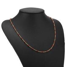 1pcs Edelstahl Gold Ton Dainty Nette Kette Tiny Perlen Halsband Halskette Satellite Bead Schmuck Geschenk Frauen