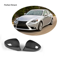 RCF CT Side Mirror Cover LHD For Lexus GS IS ES RC LS Dry Carbon Fiber Side View Mirror Cover Caps 2011 2012 2013 2014 2015 2016