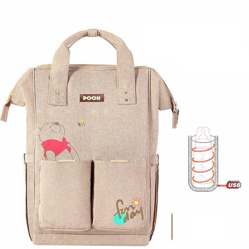Sac à couches de maternité Disney grande capacité   Sac à couches pour maman, sac à dos de voyage multifonction pour bébé, sacs isolants pour soins de bébé
