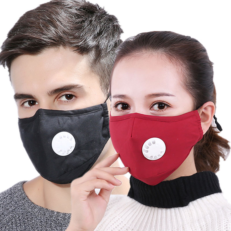 Anti Pollution Dust Face Mouth Mask Air Filter Mouth Masks Winter Warm Respirator Replaceable Filter Men Women Outdoor Driving