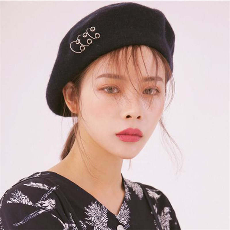 Vintage Style New Painter Hat Female Winter Stylish Sweet Round Circle Berets 2019 Korean Fashion