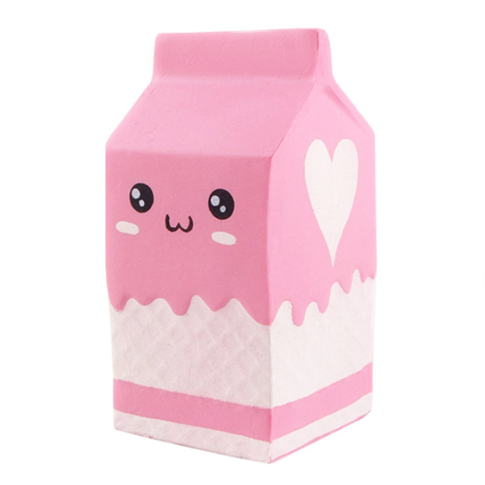 Cute Pink Yogurt Bottle Slow Rising Toy Stress Reliever Decor Toys Decompression Squeeze Toys Girly Heart Pinch Fun #A