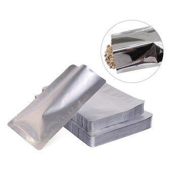 Urijk 100 Uds bolsas selladoras al vacío bolsa de almacenamiento sellado térmico bolsas de papel aluminio bolsa selladora al calor para alimentos suministros de cocina