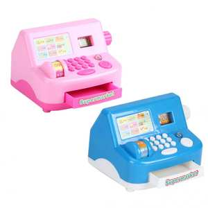 Toy Cash Register Supermarket Simulated Pretend-Play-Toys Small for Children Gift Home-Appliance