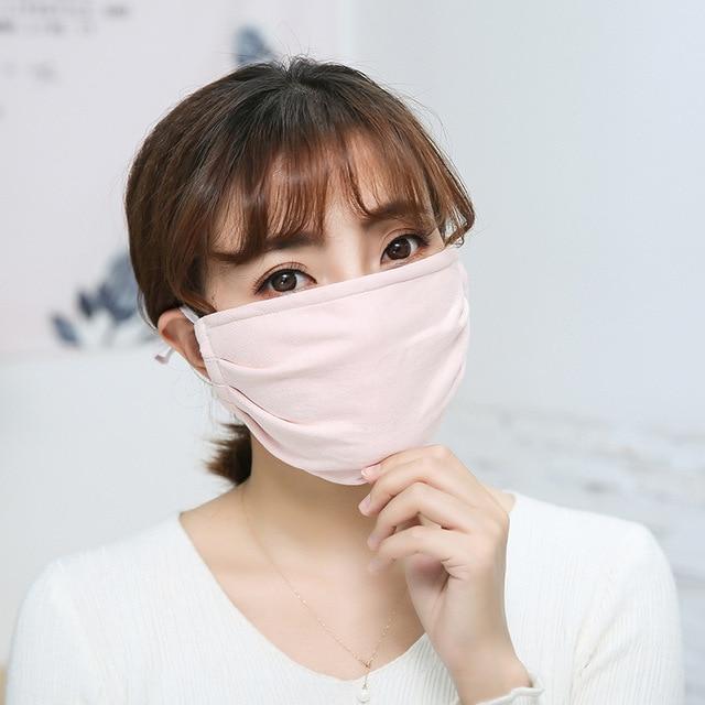 Cotton Anti-dust Mask Flu Face Mask Unisex PM2.5 Washable Reusable Anti Haze Mouth Mask breathable Warm Mask Black Mask FFP2 3