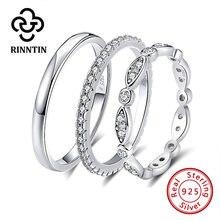 Rinntin 925 стерлингового серебра женские классические кольца