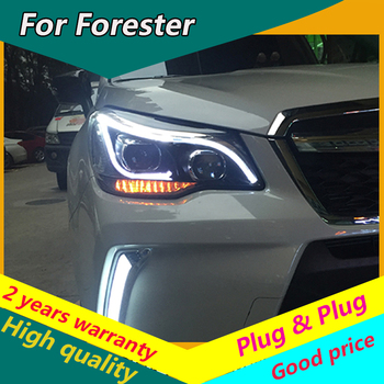 KOWELL Car Styling for New Forester LED Headlight 2013 2014 2015 2016 Forester DRL Lens Double Beam H7 HID Xenon Car Accessories image