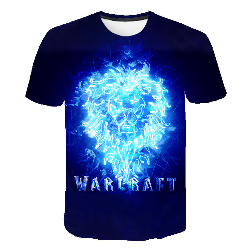 Fashion Cool T Shirt Men Women Game Warcraft 3D T-shirts Short Sleeve Printed Harajuku Style Tshirt Streetwear Tops Children Tee