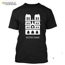 Brand T-Shirt Men 2019 Fashion Notre Dame Cathedral I Love Paris T SHIRT Tee