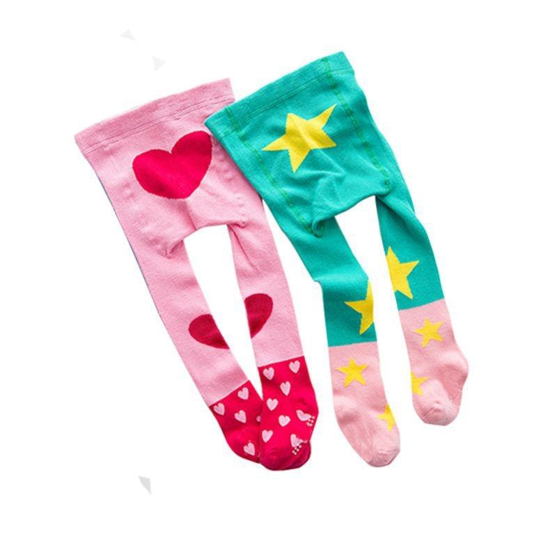 Baby Girls Tights&Stocking Heart Cartoons Cotton Warm Pantyhose Stockings Winter Spring Girl Stockings 10-24M