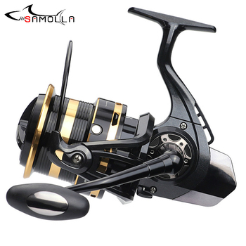 Big Metal Fishing Reel 10000-12000 Spinning Trolling  Carp Reels For Saltwater Carretilha De Pesca 12+1BB 10KG Drag Peche