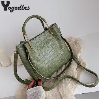 Женские сумки из искусственной кожи с каменным узором