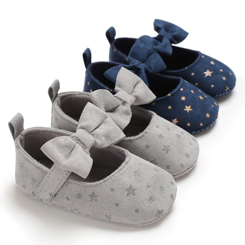 Girl Baby Shoes Non-slip Princess Bow Little Stars Toddler Shoes