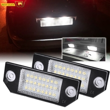 2Pcs 12V LED מספר לוחית רישוי אור מנורות לפורד פוקוס C MAX MK2 2003 2008 חיצוני מכונית אורות תאורה אבזרים