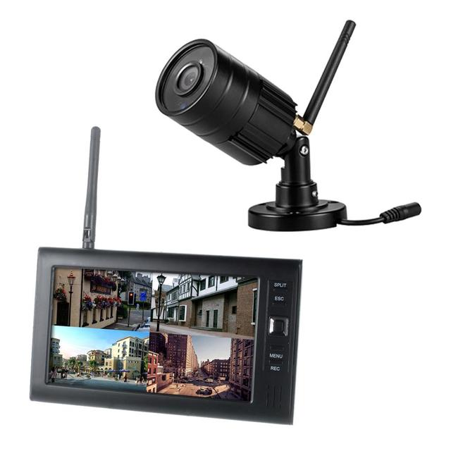 Yobang الأمن 720P فيديو الأمن مسجل دي في أر أطقم 4CH رباعية الأمن مراقبة كاميرات الدوائر التلفزيونية المغلقة نظام (1 عدة كاميرا الخيار)