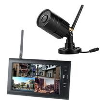 Yobang Security 720P Video Security DVR recorder Kits 4CH Quad Security Surveillance CCTV Cameras System(1 Camera Kits Option)