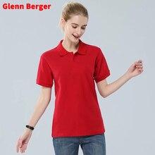 Glenn Berger Новая летняя рубашка поло женская повседневная с коротким рукавом тонкая рубашка поло Mujer рубашки размера плюс женская хлопковая рубашка поло топ