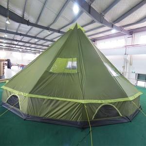 Image 5 - LAPUTA Ultralarge 8 12 Person Waterproof Camping Party Family Tent Namiot Carpas De Camping Party Tent