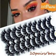 Eye-Makeup-Tools False-Eyelashes Fluffy Natural 10pairs Mink-Hair Handmade 3D Soft Wispy