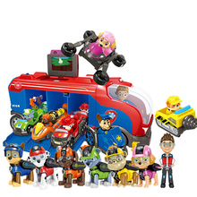 Paw Patrol собака Миссия крейсер музыкальная база автобус раздвижная собака Спасательная команда игрушка набор Аниме фигурки Модель Дети День рождения лучший подарок