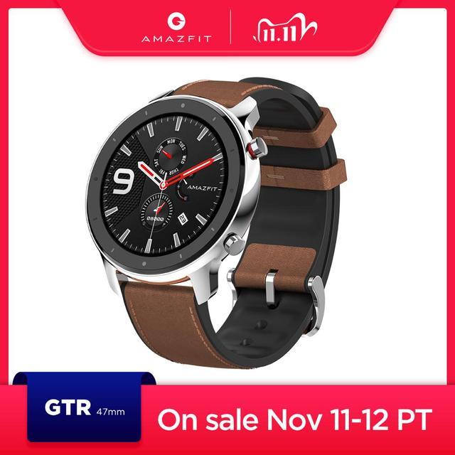 Global Versie Nieuwe Amazfit Gtr 47Mm Smart Horloge 5ATM Smartwatch 24 Dagen Batterij Music Control Voor Android Ios Telefoon