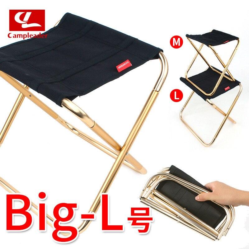 New Style Folding Stool Large Size 7075 Aluminium Alloy Outdoor Portable Barbecue Fishing Folding Chair Folding Stool Train Stoo