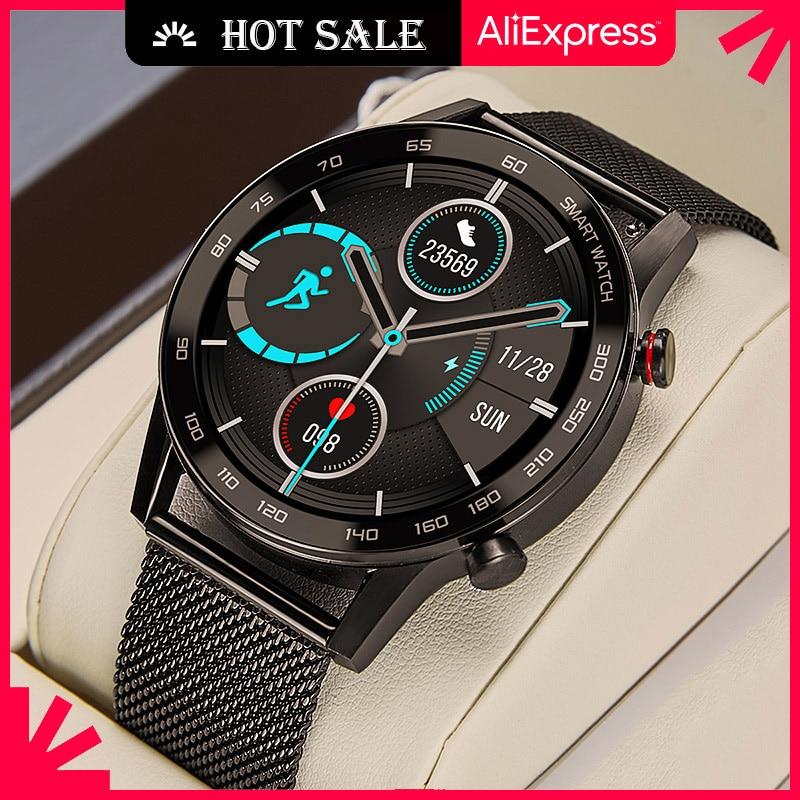 Смарт-часы для мужчин 2021 бизнес вызовов через Bluetooth, умные часы для мужчин IP68 ЭКГ Reloj Inteligente Смарт-часы для IOS Android Iphone Huawei