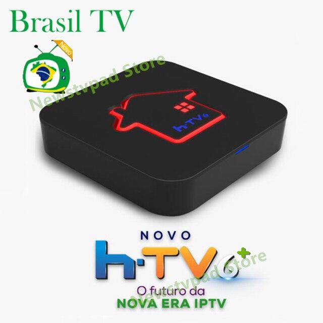 Ai tak pro 1 HTV TIGRE box tigre2 TV BOX HTV6 + htv scatola 6 brasil box BTV Brasiliano TV android box HTV Brasile Media Player