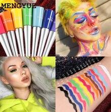 Colorful Neon Green White Matte Liquid Eyeliner Pencil Waterproof Makeup Liquid Eye Liner Blue Yellow Eyes Cosmetics Pen