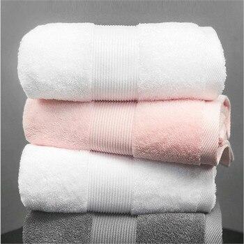 White bath towel big size solid beach shower towels for bathroom hotel home beauty salon travel 80*180cm adult kids blanket pink