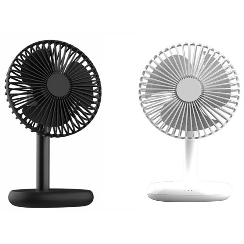 Rechargeable Fan with Wireless Charger - USB Chargeable Lithium Battery, Adjustable Tilt - Powerful & Portable