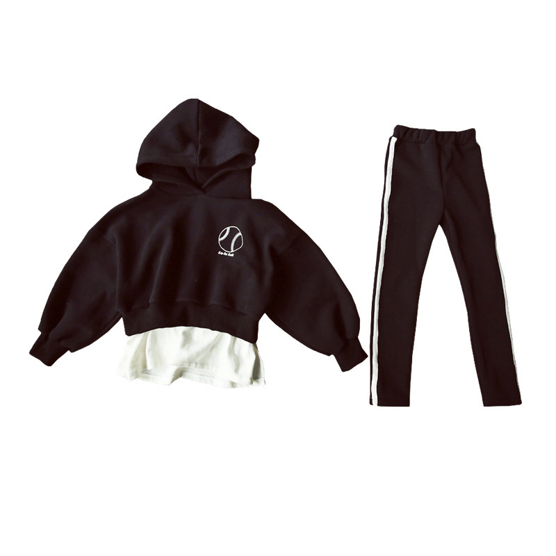Image 2 - High Quality New Spring Fall Teens Girls Sports Set Female Kids Casual Sweater Suit Children Clothes Teenagers Tracksuits CA578Clothing Sets   -
