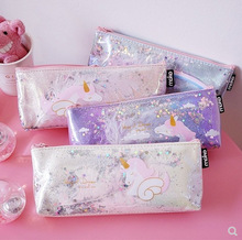 Korean bag kawaii stationery unicorn pencil bags cute  case Students pouch pen school supplies