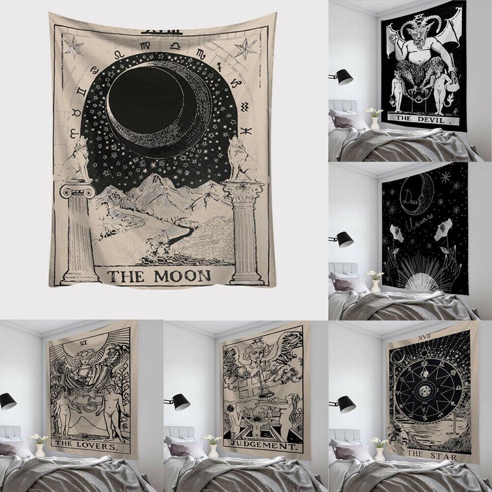 Farrot  95X73CM New Tarot Card Tapestry Wall Hanging Astrology Divination Bedspread Beach Mat