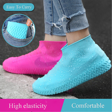 Waterproof Shoes Covers Environmental Protection Reusable Anti-Slip Motorcycle Rain Boot Soft Cover Silicone Elastic