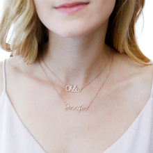 HIYONG Personalized Rose Gold Silver Name Necklace Charm Custom Jewelry Any Lots Of Font Style To Choose For Girls