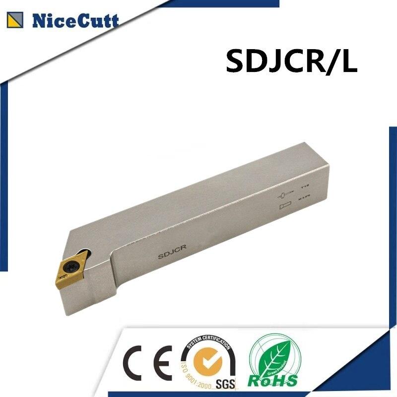 Nicecutt SDJCR1010H07 SDJCL1010H07 External Turning Tool Holder For DCMT Insert Lathe Tool Holder Freeshipping