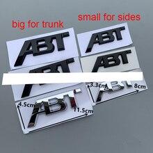 ملصقات سيارة من الكروم/الأسود ، شارات جانبية للسيارة ABT ، غطاء صندوق السيارة الخلفي ، شعار التمهيد ، ملصق VW Audi Q3 Q5 Q7 A3 A4 A5 A6