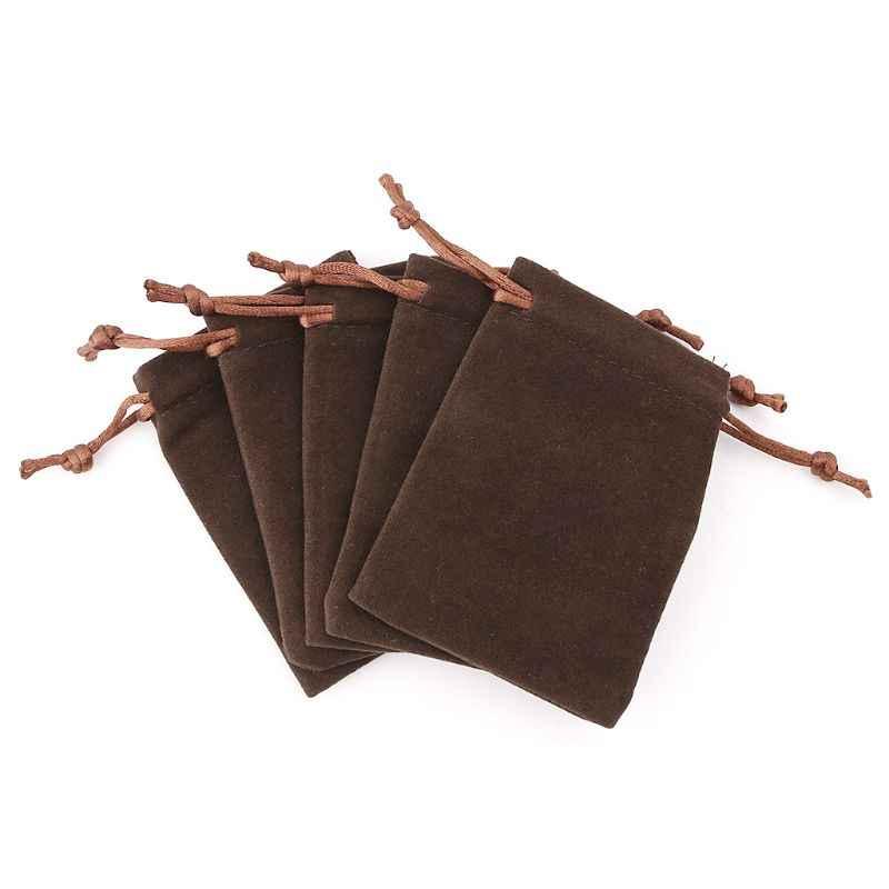 5 pces d & d saco de dados rpg veludo cordão sacos tarô cartão jóias saco 10*12cm k1kd