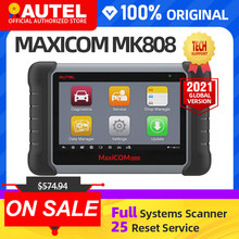 Autel MaxiCOM MK808 MX808 OBD OBDII Diagnostic Tool OBD2 Scanner Full Systems Diagnostic Scanner Autel Tablet Scanner Automotive