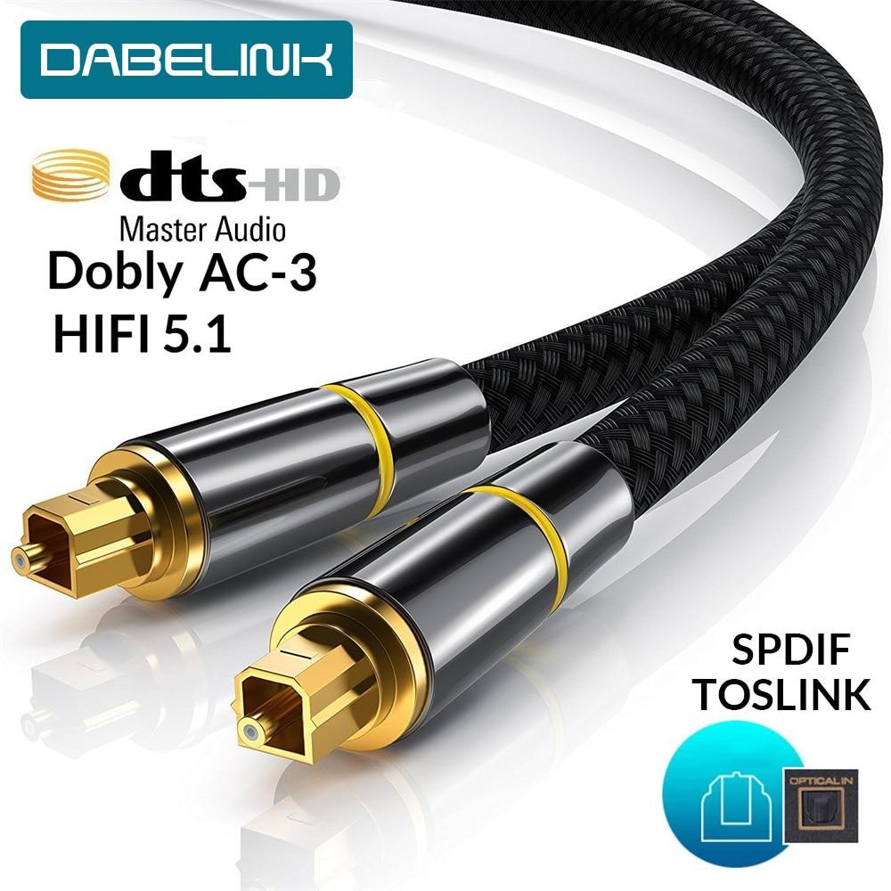 Cabo de áudio ótico de toslink da fibra de alta fidelidade 5.1 digitas spdif 1m 2m 8m 10m para o subwoofer do amplificador do soundbar do fio do orador ps4 da caixa da tevê