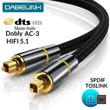 Цифровой оптоволоконный кабель Toslink HIFI 5,1 SPDIF 1 м, 2 м, 8 м, 10 м для ТВ-приставки PS4, провод для динамика, саундбар, усилитель, сабвуфер
