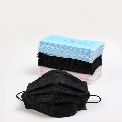 100pcs Three-layer Filter Dust Mask Breathable Korean Version Of Autumn And Winter Men And Women Disposable Mouth Masks