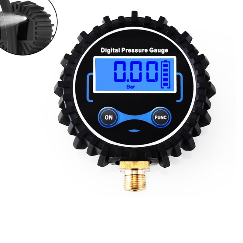 1/4 1/8 Thread LCD Digital Tire Pressure Gauge Car Auto Motorcycle Tyre Air PSI Meter For Car Truck Motorcycle