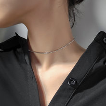 Fashion silver plated choker for women Simple short chain necklace jewellery for female